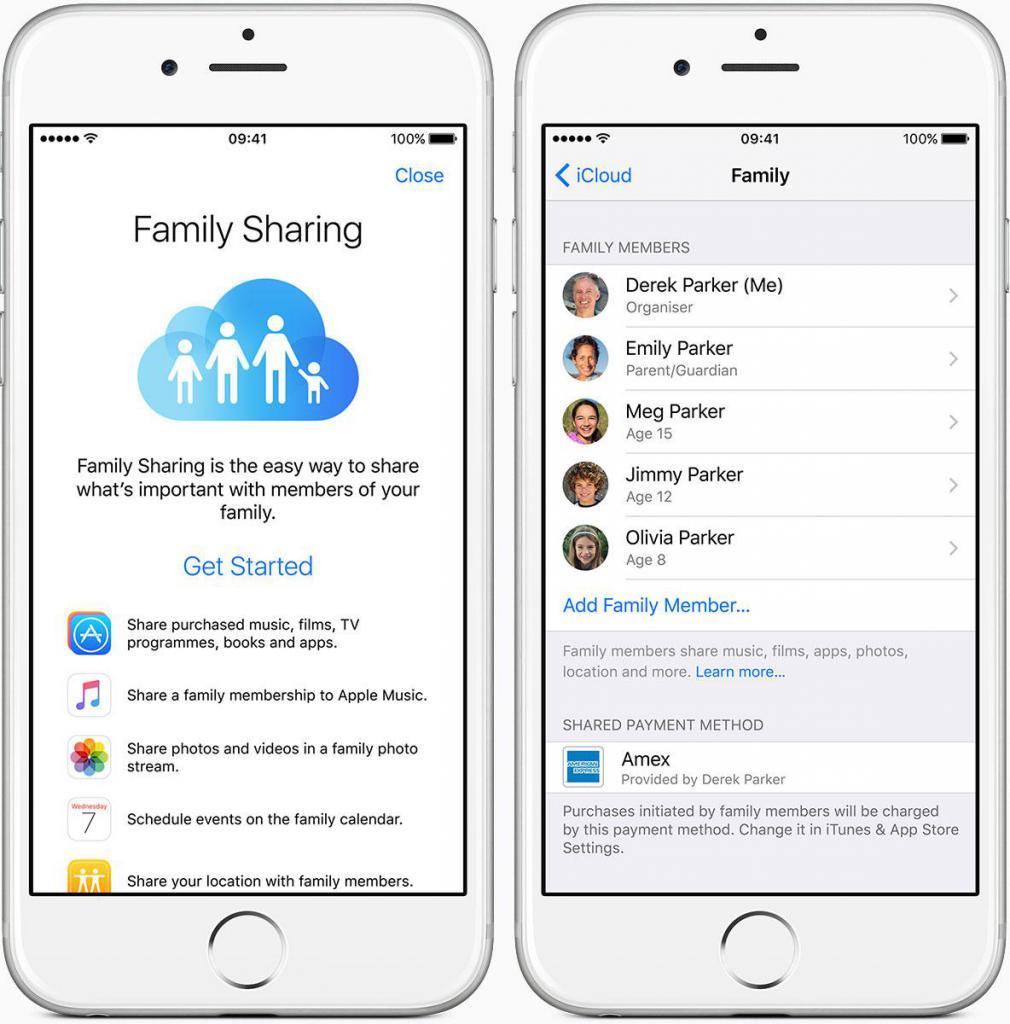 Настройка семейного доступа на смартфоне