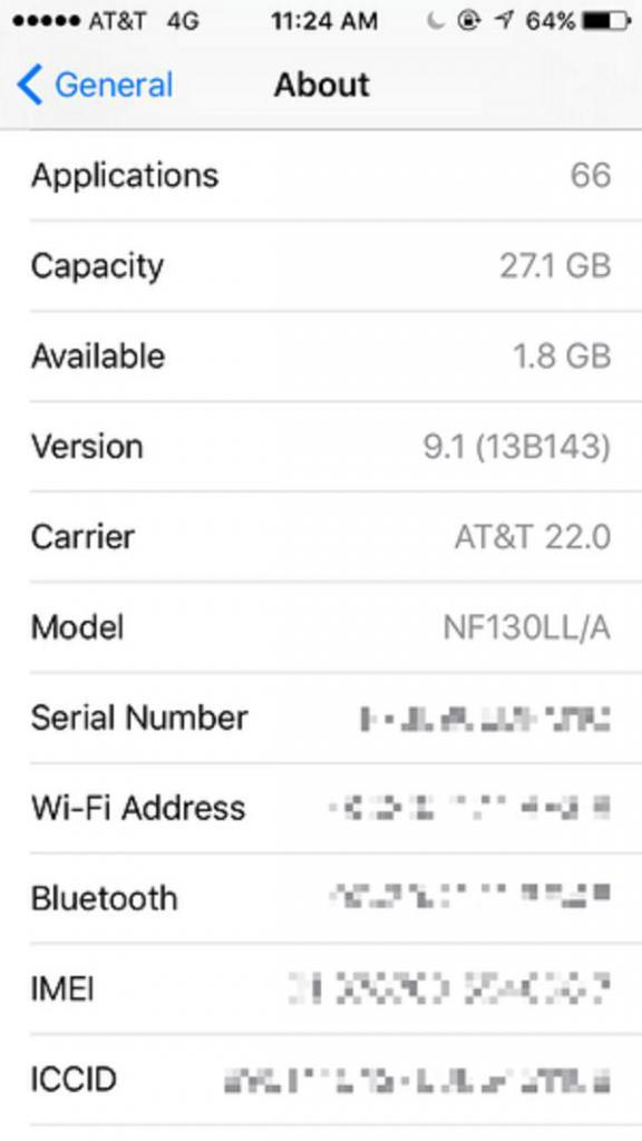 Проверить модель айфона по серийному номеру