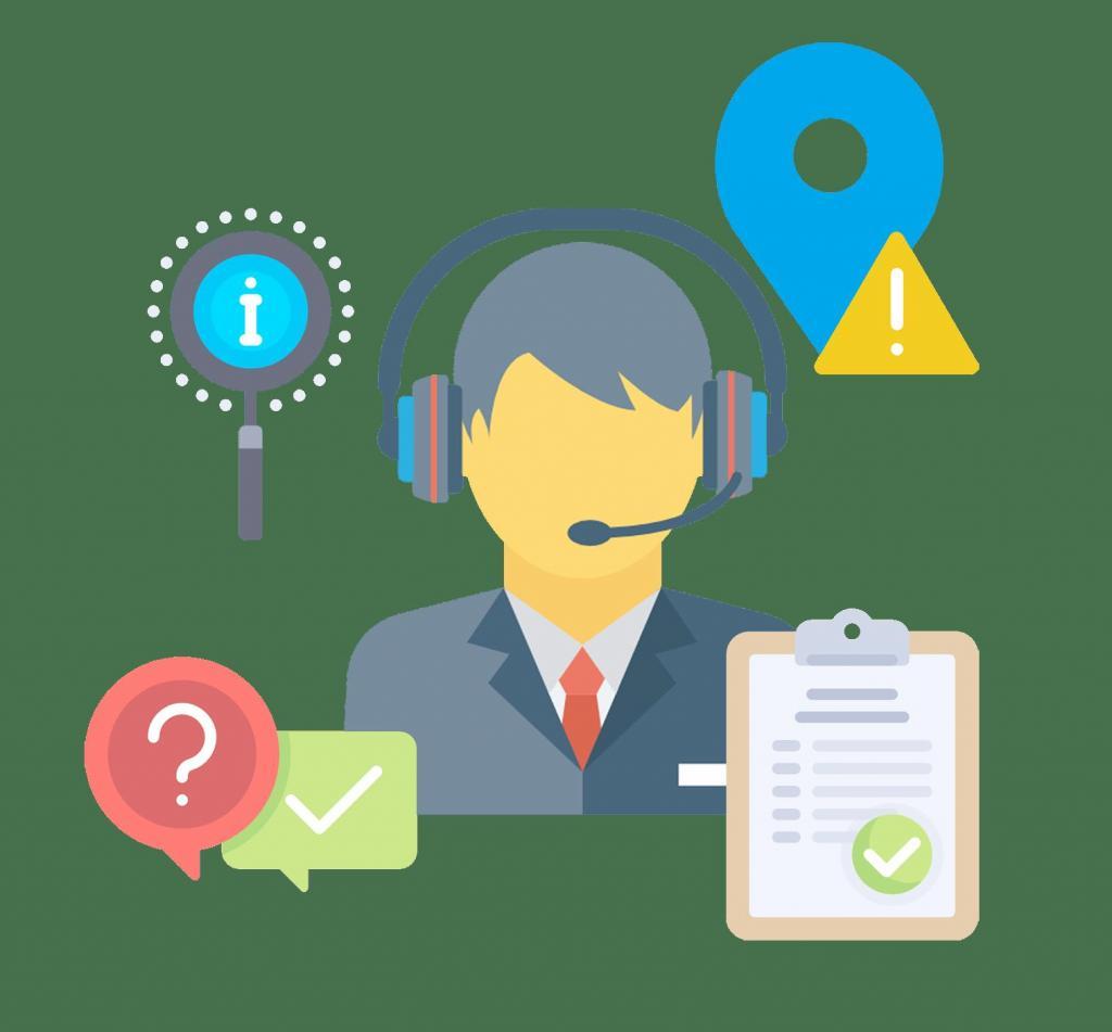 Карикатура обслуживания клиентов