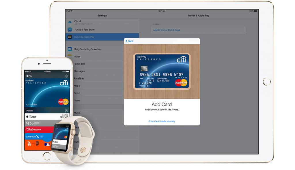 Apple Pay на iPhone 5s