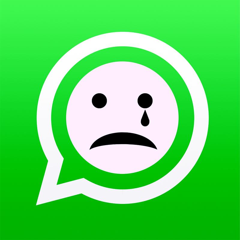 грустная эмблема Вотсап